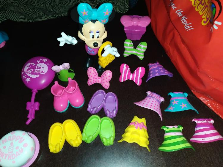 Lote juguetes mickey mouse minnie mouse