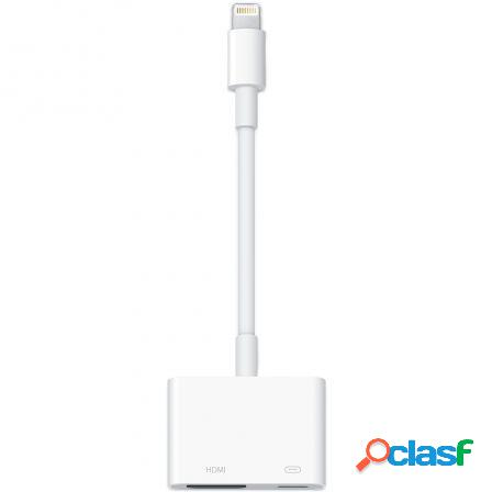 Adaptador de conector lightning a av digital hdmi - md826zm/a