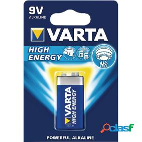 Pilas alcalinas lr22 9 v high energy en blíster de 1 pc