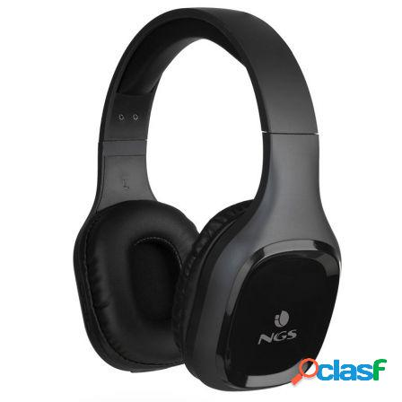 Auriculares bluetooth ngs artica sloth black - bt5.0 - entrada aux 3.5