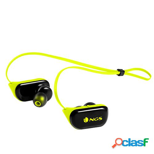Auriculares bluetooth ngs artica ranger yellow sport