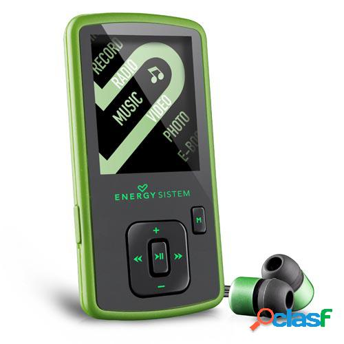 Reproductor energy sistem mp4 slim 3 nature green (8gb, auriculares in