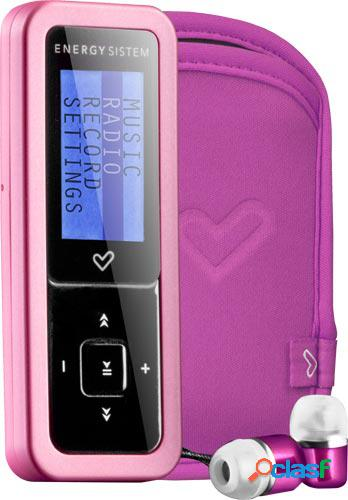 Reproductor mp3 energy sistem urban 4gb 1604 pink glam (auriculares hi