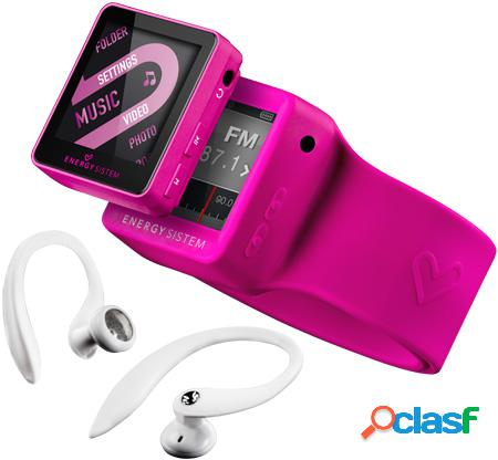 Reproductor mp4 energy sistem 2504 sport 4gb fuchsia red