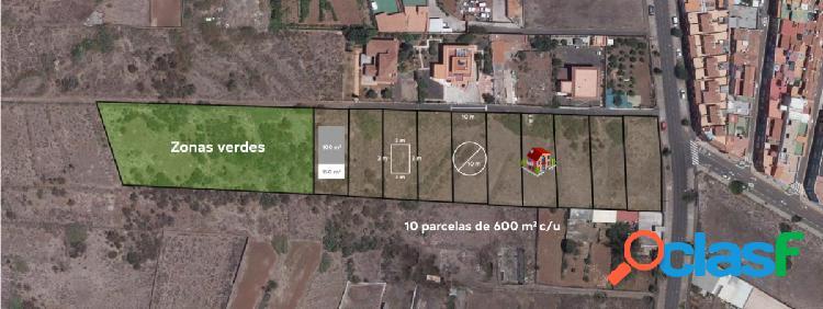 Atención inversor esta es tú oportunidad para adquirir 3 parcelas de terreno en la cual podrás const