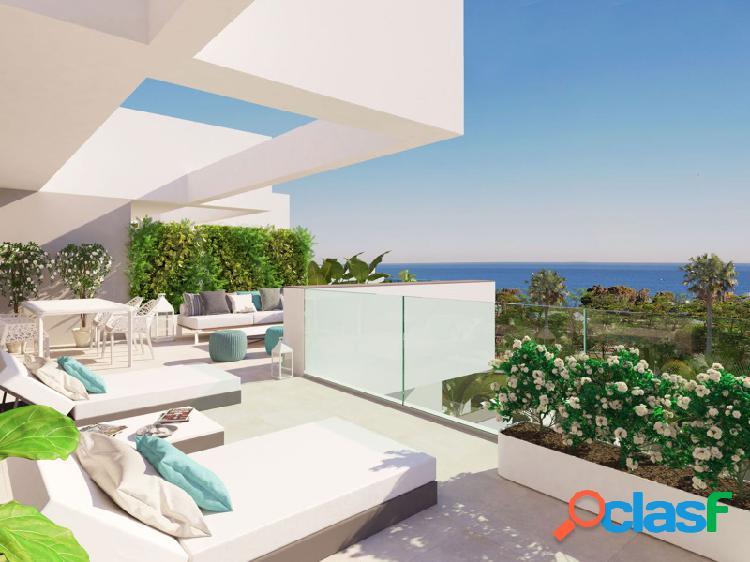 Ático de 3 dormitorios con fantástica terraza orientada al sur en manilva.
