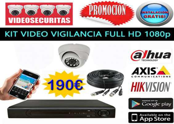 Camaras video vigilancia kit completo en madrid