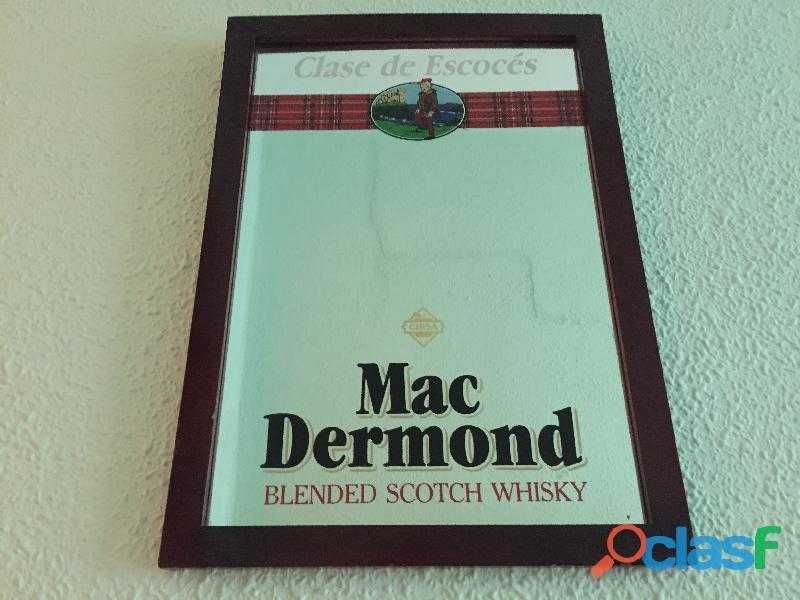 Cuadro espejo whisky Mac Dermond