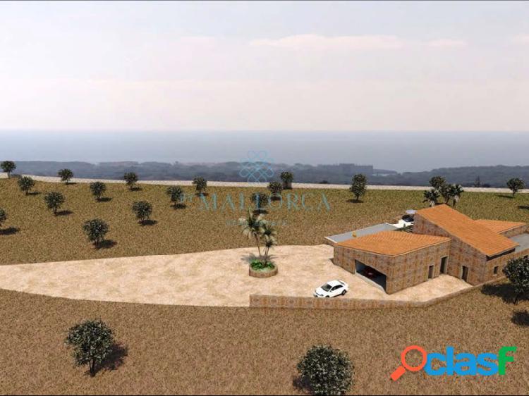 Finca con proyecto ejecución de chalet y piscina con espectaculares vistas al mar