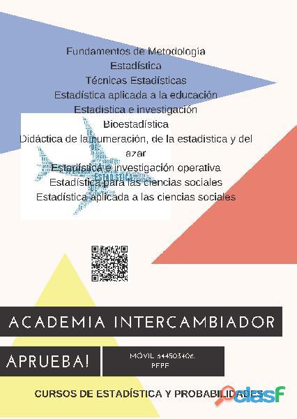 Clases Estadística y Probabilidades junto Intercambiador SC 2
