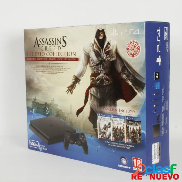 Pack consola ps4 slim 500gb + saga assesins creed precintada e308804