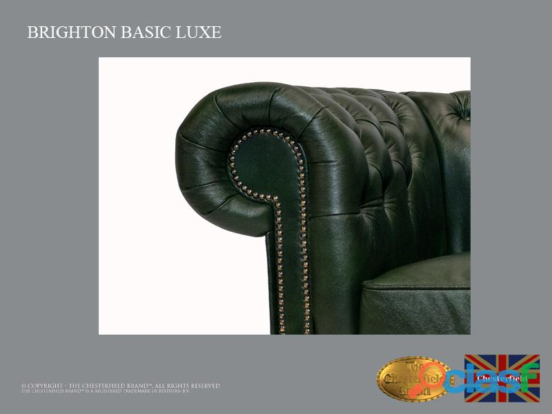 Sillón Chester Bassic Lux ,Cloudy Green, Cuero ,Auténtic Chesterfield Brand 5