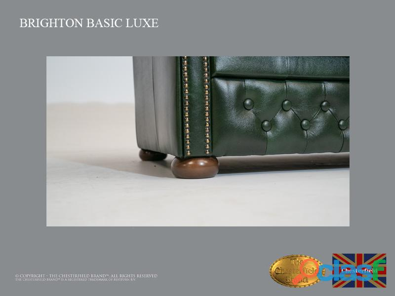 Sillón Chester Bassic Lux ,Cloudy Green, Cuero ,Auténtic Chesterfield Brand 4