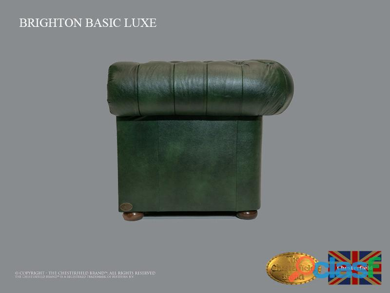 Sofá Chester Bassic Lux ,Cloudy Green, 2 plazas ,Cuero, Chesterfield Brand 6