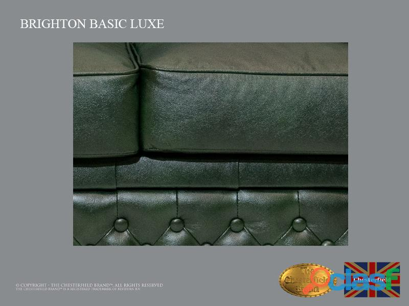Sofá Chester Bassic Lux ,Cloudy Green, 2 plazas ,Cuero, Chesterfield Brand 5