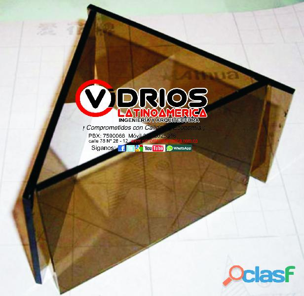 vidrio cristal bronce