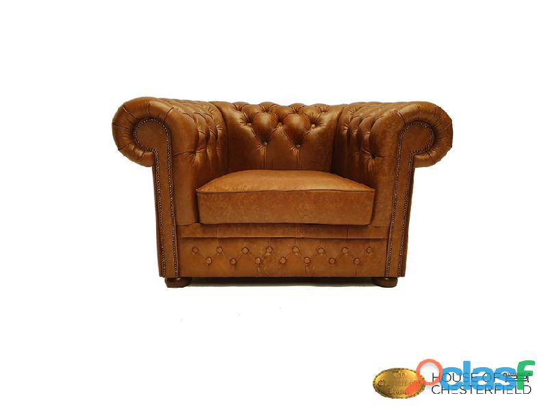 Sillón Chester Whiskey Brown Cuero Auténtic Chesterfield Brand