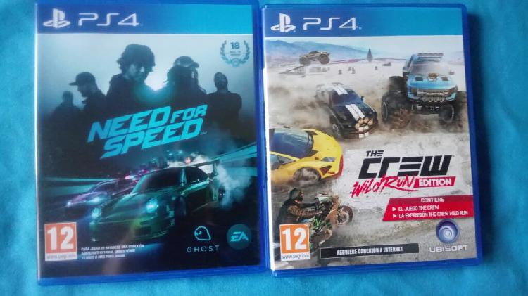 Need for speed y the crew wild run pal españa ps4