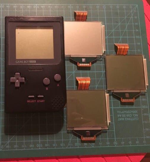 Gameboy pocket original negra + 3 pantallas