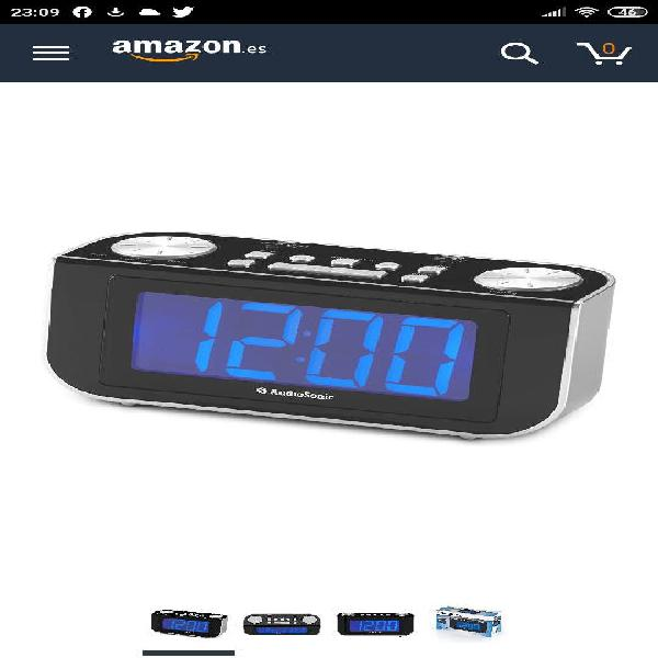 Reloj despertador con radio audiosonic cl 480