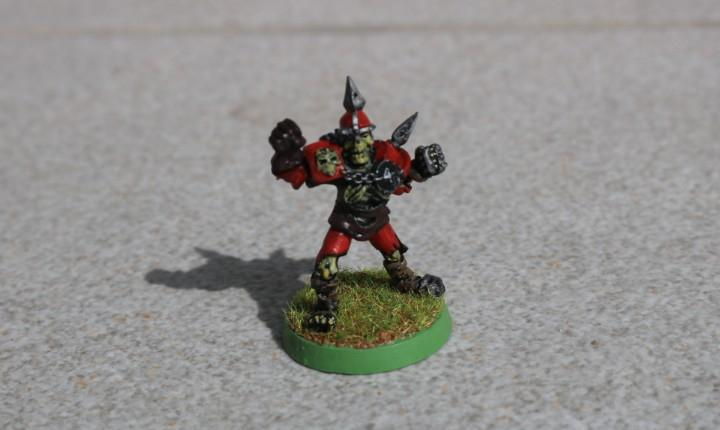 Blood bowl miniatura original metal esqueleto pintado no