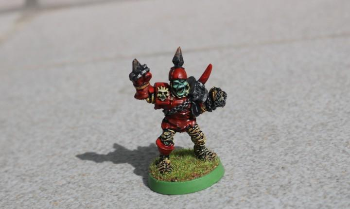 Blood bowl miniatura original metal momia pintado no muertos
