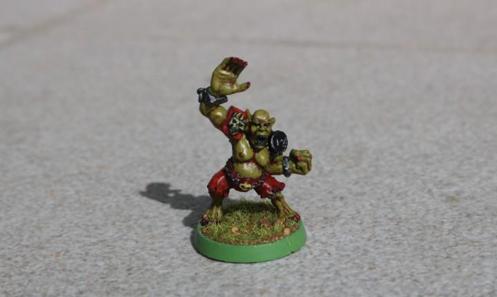 Blood bowl miniatura original metal necrófago pintado no