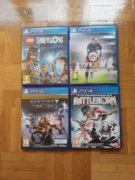Lote juegos sony playstation 4 ps4