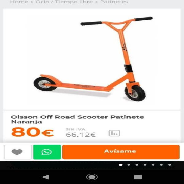 Patinete todoterreno scooter olsson off road scoot