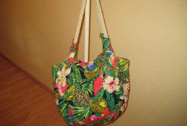 Bolsa de lona estampado tropical