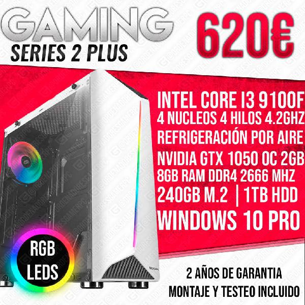 Pc ordenador gamer i3 9100 gtx 1050 8gb ram 1tb