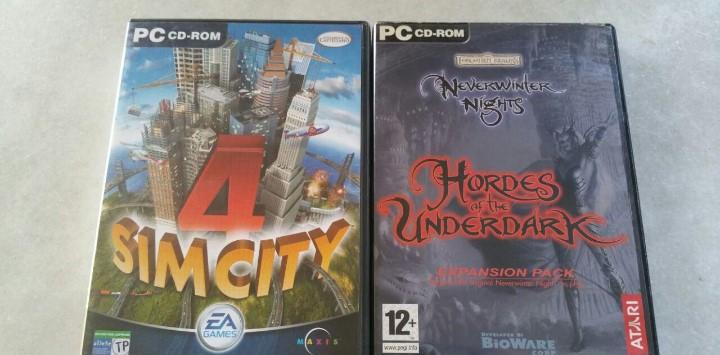 2 pc juegos - simcity 4 - neverwinter nights hordes of the