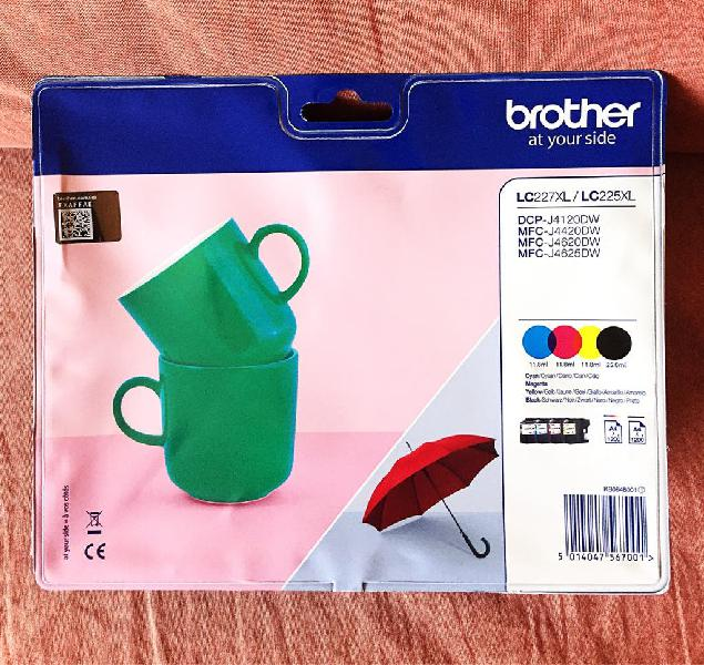 Cartuchos brother lc227 xl pack 4 colores