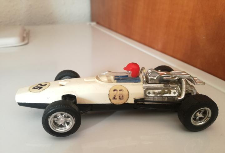 Honda blanco chasis negro 2a serie scalextric exin