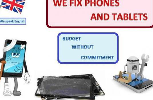 We fix phones and tablets
