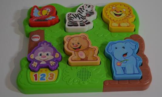 Puzzle musical zoo animal fisher price