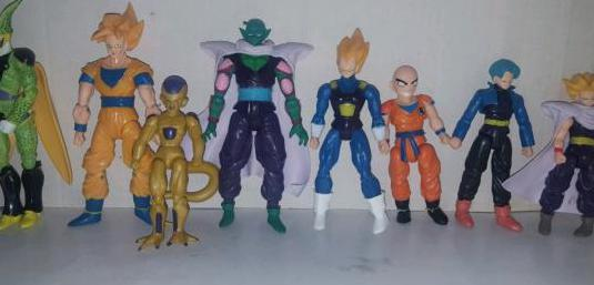8 figuras dragon ball articulables