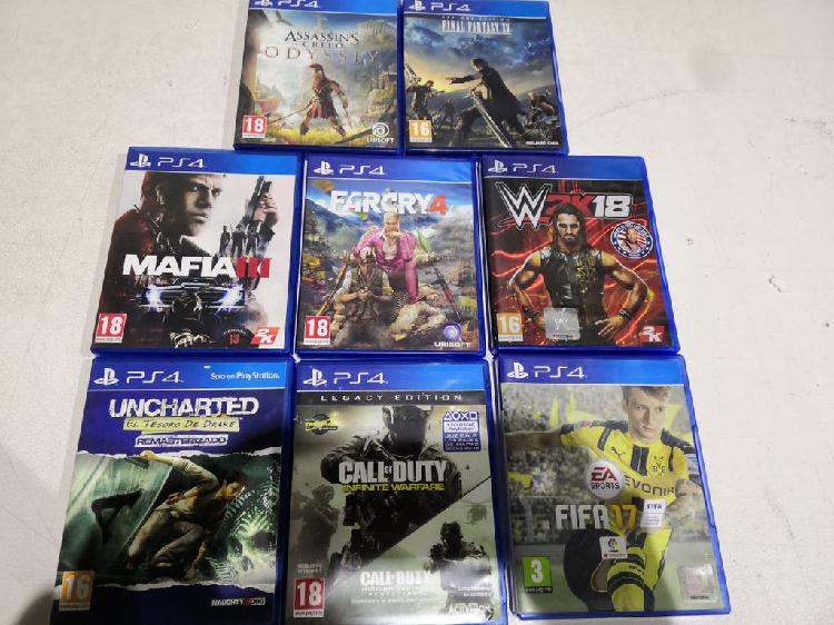 8 x juegos ps4 sony playstation 4