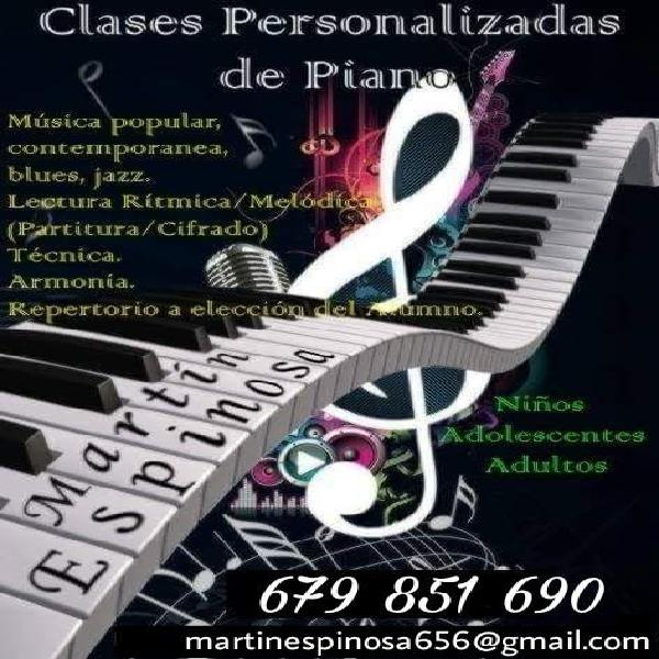 Clases personalizadas de piano