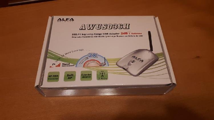 Antena wifi adaptador usb larga distancia nueva