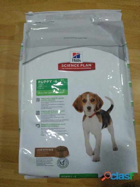 Saco de pienso hill´s puppy cordero y arroz 12 kilos nuevo