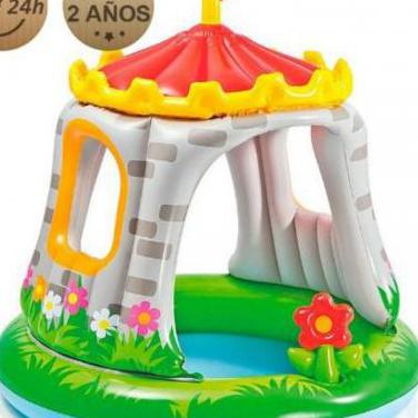 Piscina hinchable castillo intex 122 cm