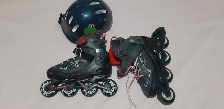 Patines oxelo y casco