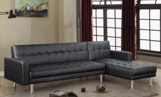 Sofa cheslon polipiel negro