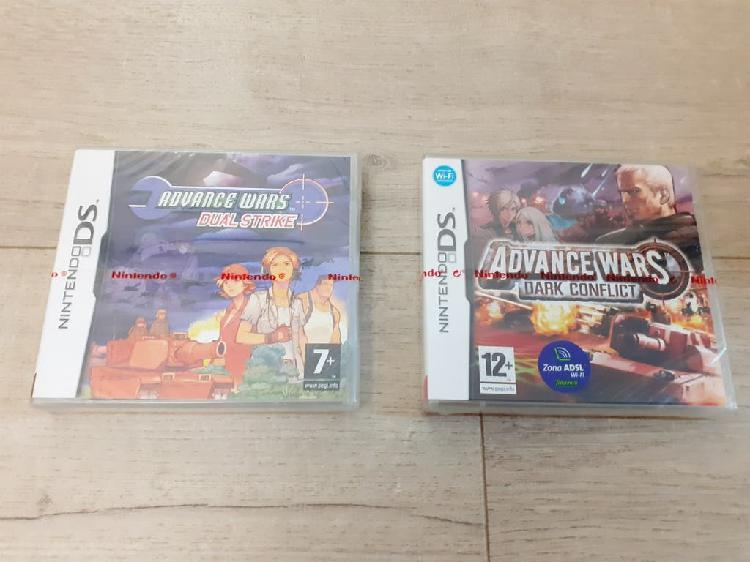 Lote advance wars nintendo ds precintado