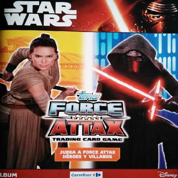 Star wars carrefour 2016 force attax 120 cromos