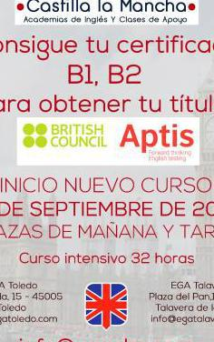 Curso intensivo aptis general (inglés)
