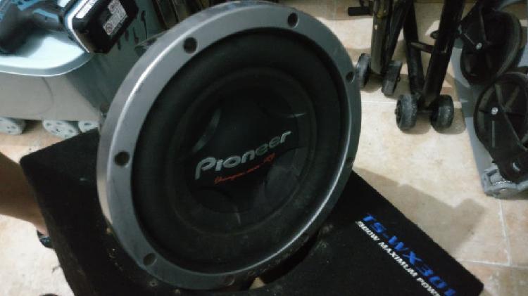 subwoofer Pioneer doble bobina 1000rms (3000 wats)