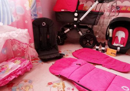 Bugaboo cameleon 3.gris rosa.muy completo.