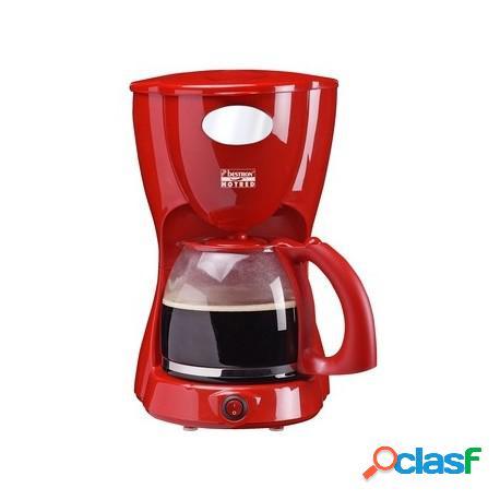 Cafetera goteo 12 servicios de color rojo